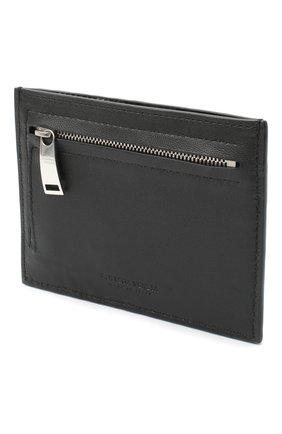 Женский кожаный футляр для кредитных карт BOTTEGA VENETA черного цвета, арт. 635043/VCPP3   Фото 2