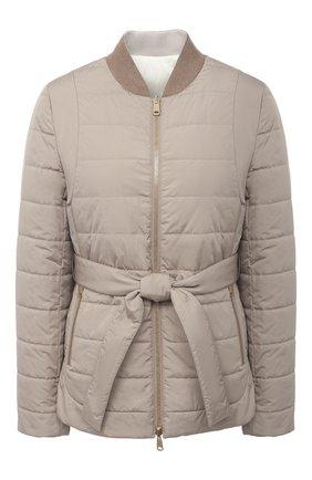 Женская пуховая куртка BRUNELLO CUCINELLI бежевого цвета, арт. MB5718855P   Фото 1
