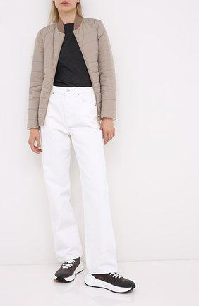 Женская пуховая куртка BRUNELLO CUCINELLI бежевого цвета, арт. MB5718855P   Фото 2