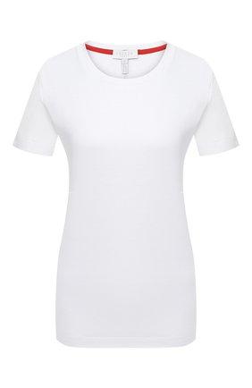 Женская хлопковая футболка ESCADA SPORT белого цвета, арт. 5033716 | Фото 1