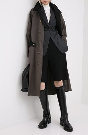 Женский шерстяной жакет BRUNELLO CUCINELLI темно-серого цвета, арт. ME2268999 | Фото 2