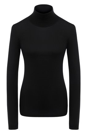 Женская водолазка из смеси кашемира и шелка BRUNELLO CUCINELLI черного цвета, арт. M13800063P | Фото 1