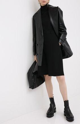 Женская водолазка из смеси кашемира и шелка BRUNELLO CUCINELLI черного цвета, арт. M13800063P | Фото 2