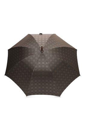 Женский зонт-трость PASOTTI OMBRELLI коричневого цвета, арт. 142/MILF0RD/6/N37 | Фото 1