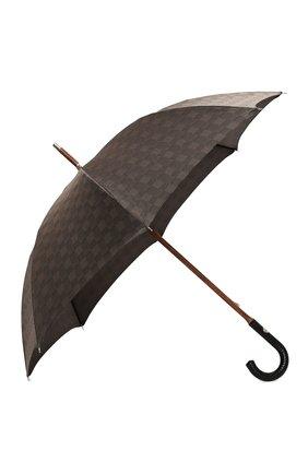 Женский зонт-трость PASOTTI OMBRELLI коричневого цвета, арт. 142/MILF0RD/6/N37 | Фото 2