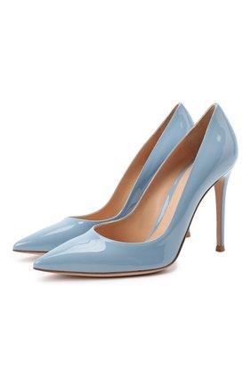 Женская кожаные туфли gianvito 105 GIANVITO ROSSI голубого цвета, арт. G28470.15RIC.VERST0W | Фото 1