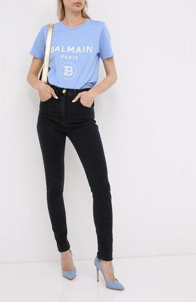 Женская кожаные туфли gianvito 105 GIANVITO ROSSI голубого цвета, арт. G28470.15RIC.VERST0W | Фото 2