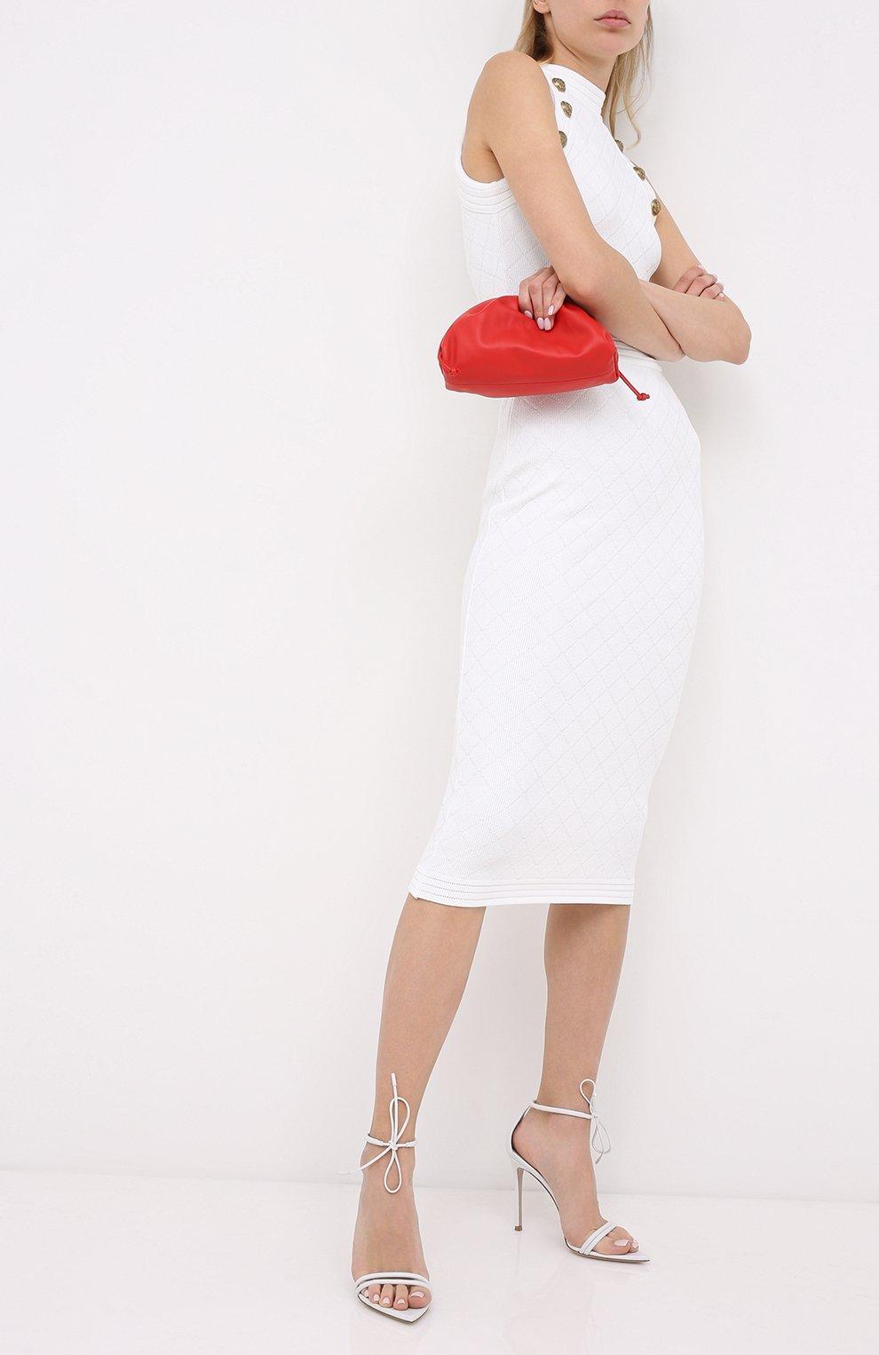 Женские кожаные босоножки sharp GIANVITO ROSSI белого цвета, арт. G61587.15RIC.NAPBIAN | Фото 2