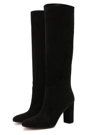 Женские замшевые сапоги glen GIANVITO ROSSI черного цвета, арт. G80627.85RIC.C45NER0 | Фото 1