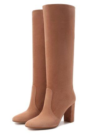Женские замшевые сапоги glen GIANVITO ROSSI бежевого цвета, арт. G80627.85RIC.C45PRAL | Фото 1