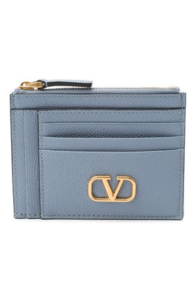 Женский кожаный футляр для кредитных карт valentino garavani VALENTINO голубого цвета, арт. UW2P0U24/SNP | Фото 1