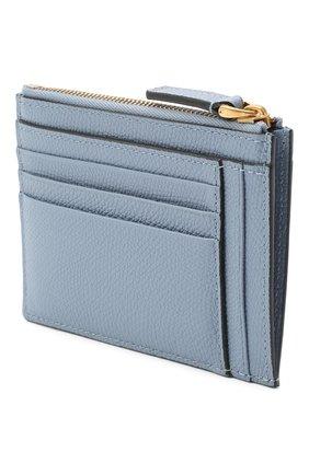 Женский кожаный футляр для кредитных карт valentino garavani VALENTINO голубого цвета, арт. UW2P0U24/SNP | Фото 2
