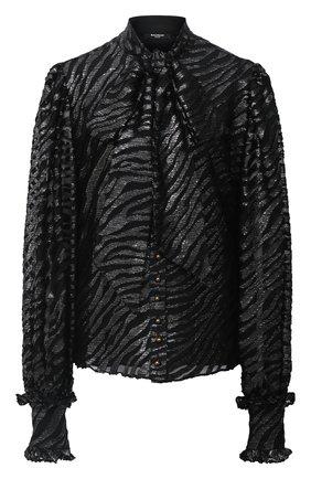 Женская блузка BALMAIN черного цвета, арт. UF12680/X421 | Фото 1