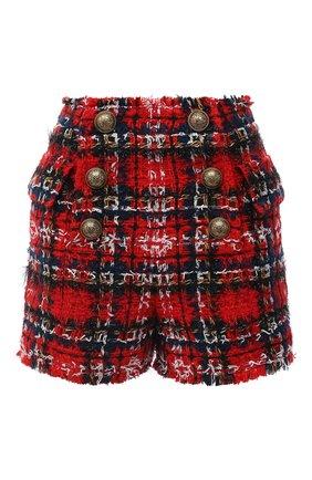 Женские шорты BALMAIN красного цвета, арт. UF15002/W076 | Фото 1