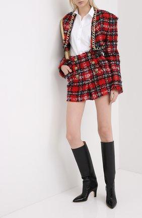Женские шорты BALMAIN красного цвета, арт. UF15002/W076 | Фото 2