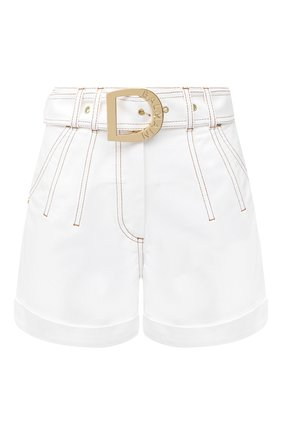 Женские джинсовые шорты BALMAIN белого цвета, арт. UF15394/D022 | Фото 1