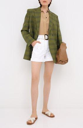 Женские джинсовые шорты BALMAIN белого цвета, арт. UF15394/D022 | Фото 2