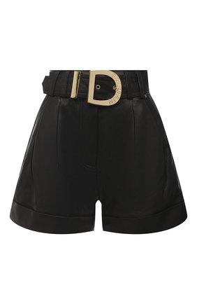 Женские кожаные шорты BALMAIN черного цвета, арт. UF15817/L025 | Фото 1