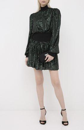 Женское платье с пайетками BALMAIN зеленого цвета, арт. UF16306/K130 | Фото 2
