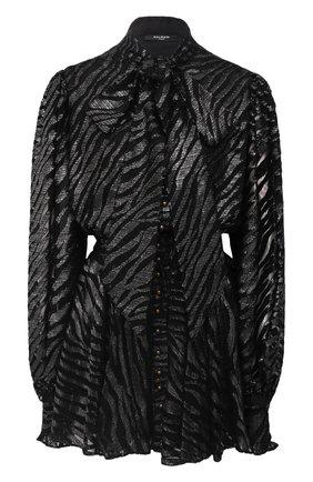 Женское платье BALMAIN черного цвета, арт. UF16336/X421 | Фото 1