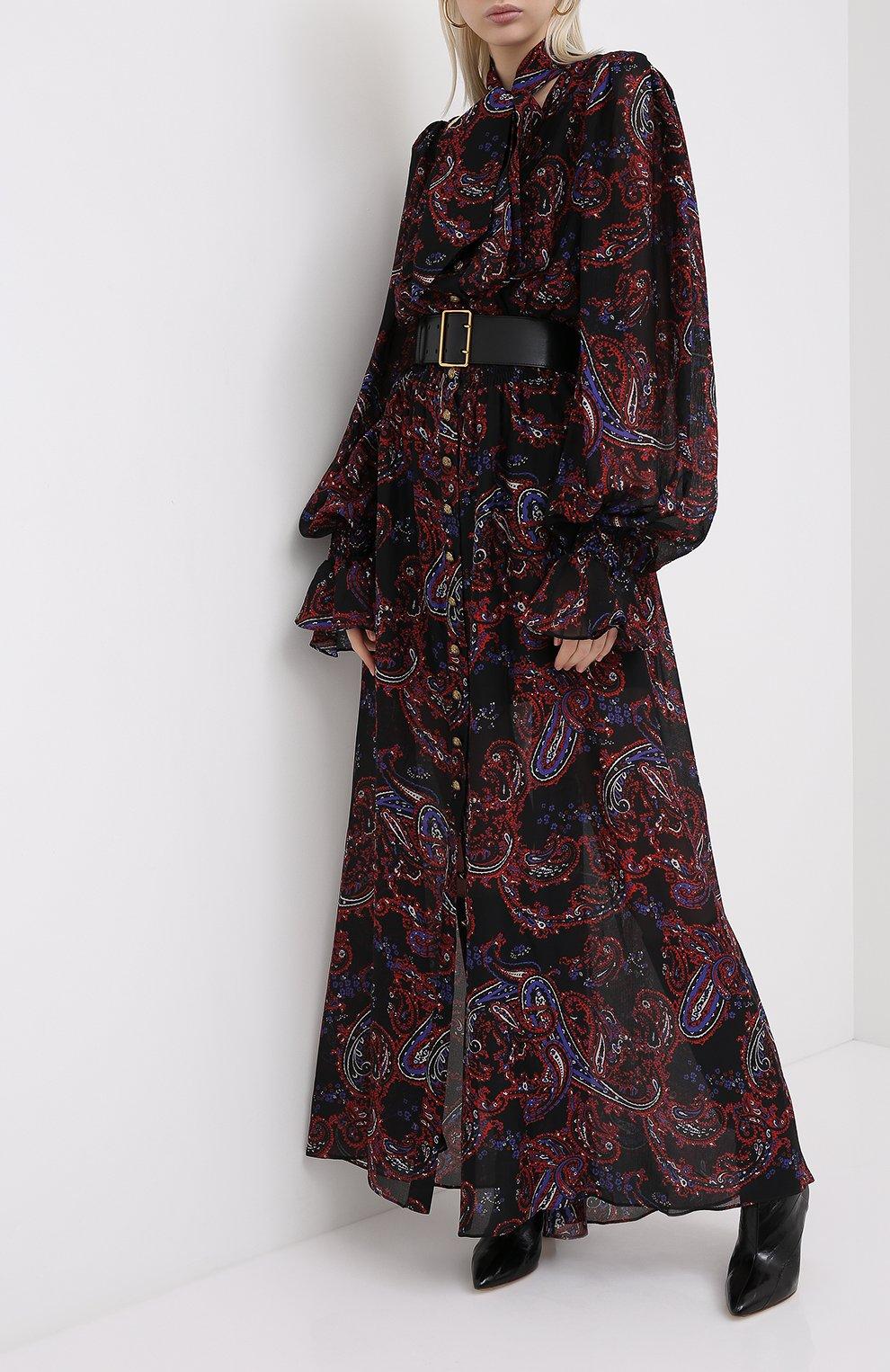 Женское шелковое платье BALMAIN разноцветного цвета, арт. UF16891/I518   Фото 2