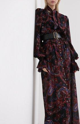 Женское шелковое платье BALMAIN разноцветного цвета, арт. UF16891/I518   Фото 3