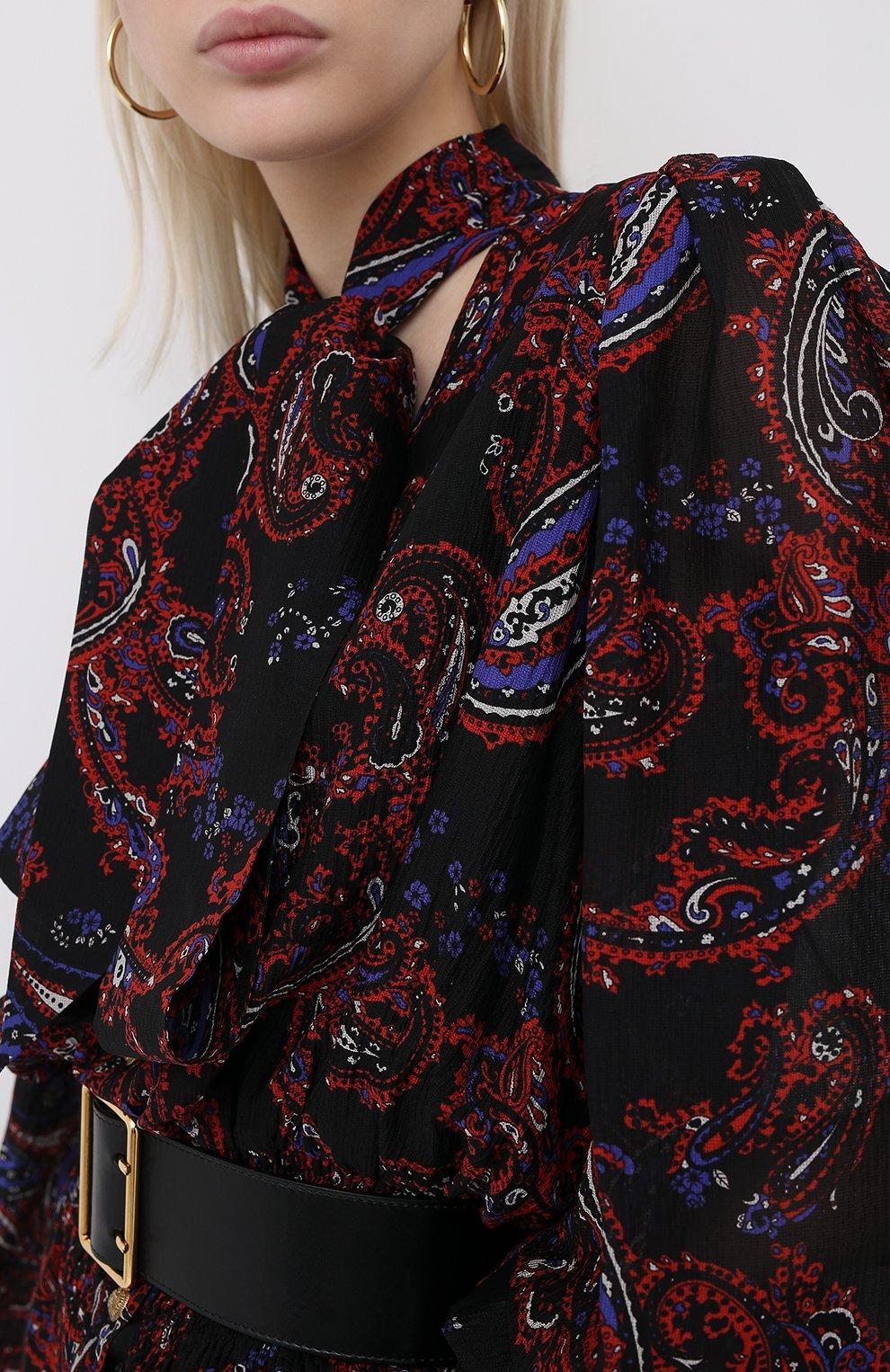 Женское шелковое платье BALMAIN разноцветного цвета, арт. UF16891/I518   Фото 5