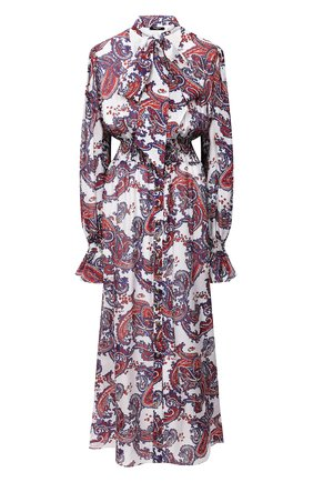 Женское шелковое платье BALMAIN разноцветного цвета, арт. UF16891/I518 | Фото 1