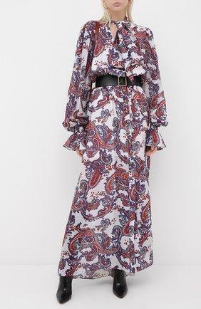 Женское шелковое платье BALMAIN разноцветного цвета, арт. UF16891/I518 | Фото 2