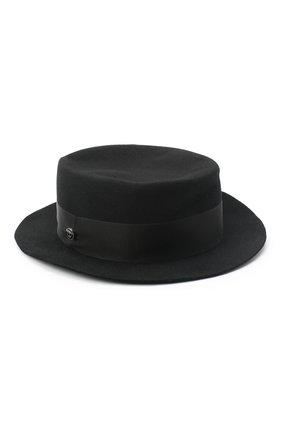 Женская фетровая шляпа GIORGIO ARMANI черного цвета, арт. 797403/0A522 | Фото 1