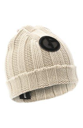 Женский кашемировая шапка GIORGIO ARMANI серого цвета, арт. 797377/0A530 | Фото 1