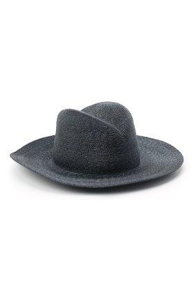 Женская соломенная шляпа GIORGIO ARMANI темно-синего цвета, арт. 797025/0A932 | Фото 1