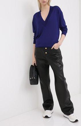 Женская пуловер из кашемира и шелка TOM FORD синего цвета, арт. MAK912-YAX087 | Фото 2