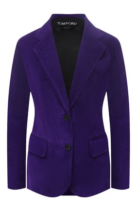 Женский замшевый жакет TOM FORD фиолетового цвета, арт. GIL449-LEX226 | Фото 1