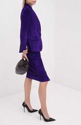 Женский замшевый жакет TOM FORD фиолетового цвета, арт. GIL449-LEX226 | Фото 2