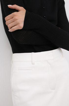 Женская кожаная юбка TOM FORD белого цвета, арт. GCL804-LEX228   Фото 5