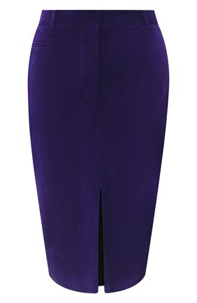 Женская замшевая юбка TOM FORD фиолетового цвета, арт. GCL804-LEX226 | Фото 1