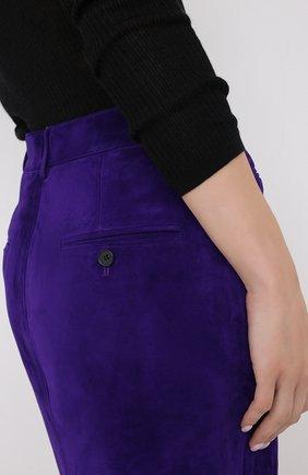 Женская замшевая юбка TOM FORD фиолетового цвета, арт. GCL804-LEX226   Фото 5