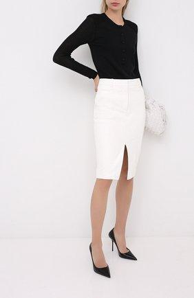 Женская кожаные туфли TOM FORD черного цвета, арт. W2524T-LSP002 | Фото 2