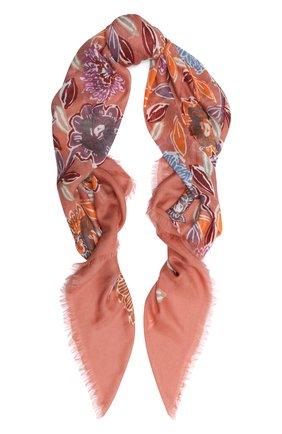 Женская шаль из кашемира и шелка LORO PIANA оранжевого цвета, арт. FAL3539 | Фото 1