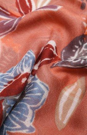Женская шаль из кашемира и шелка LORO PIANA оранжевого цвета, арт. FAL3539 | Фото 2