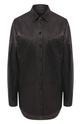 Женская кожаная рубашка DROME черного цвета, арт. DPD0398P/D400P | Фото 1