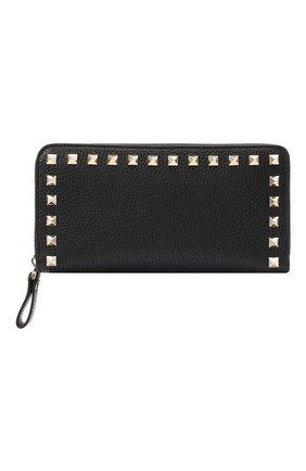 Женские кожаный кошелек valentino garavani VALENTINO черного цвета, арт. UW2P0645/VSH | Фото 1