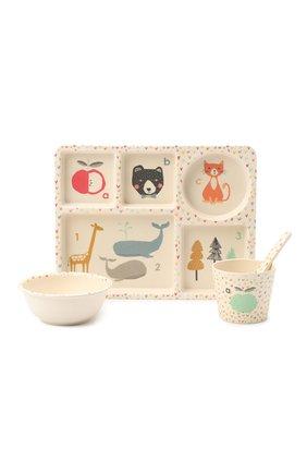 Детского набор посуды алфавит LOVE MAE белого цвета, арт. P-MAE-YD023 | Фото 1