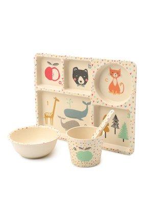 Детского набор посуды алфавит LOVE MAE белого цвета, арт. P-MAE-YD023 | Фото 2