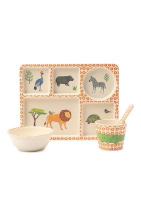 Детского набор посуды сафари LOVE MAE разноцветного цвета, арт. P-MAE-YD012 | Фото 1