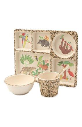 Детского набор посуды джунгли LOVE MAE разноцветного цвета, арт. P-MAE-YD020 | Фото 2