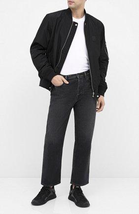 Мужские комбинированные кроссовки BOSS черного цвета, арт. 50432770 | Фото 2