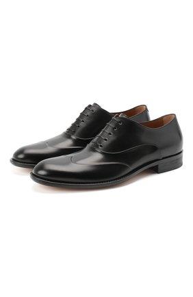 Мужские кожаные оксфорды BOSS черного цвета, арт. 50429366 | Фото 1