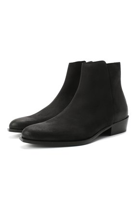 Мужские замшевые сапоги HUGO черного цвета, арт. 50435449 | Фото 1